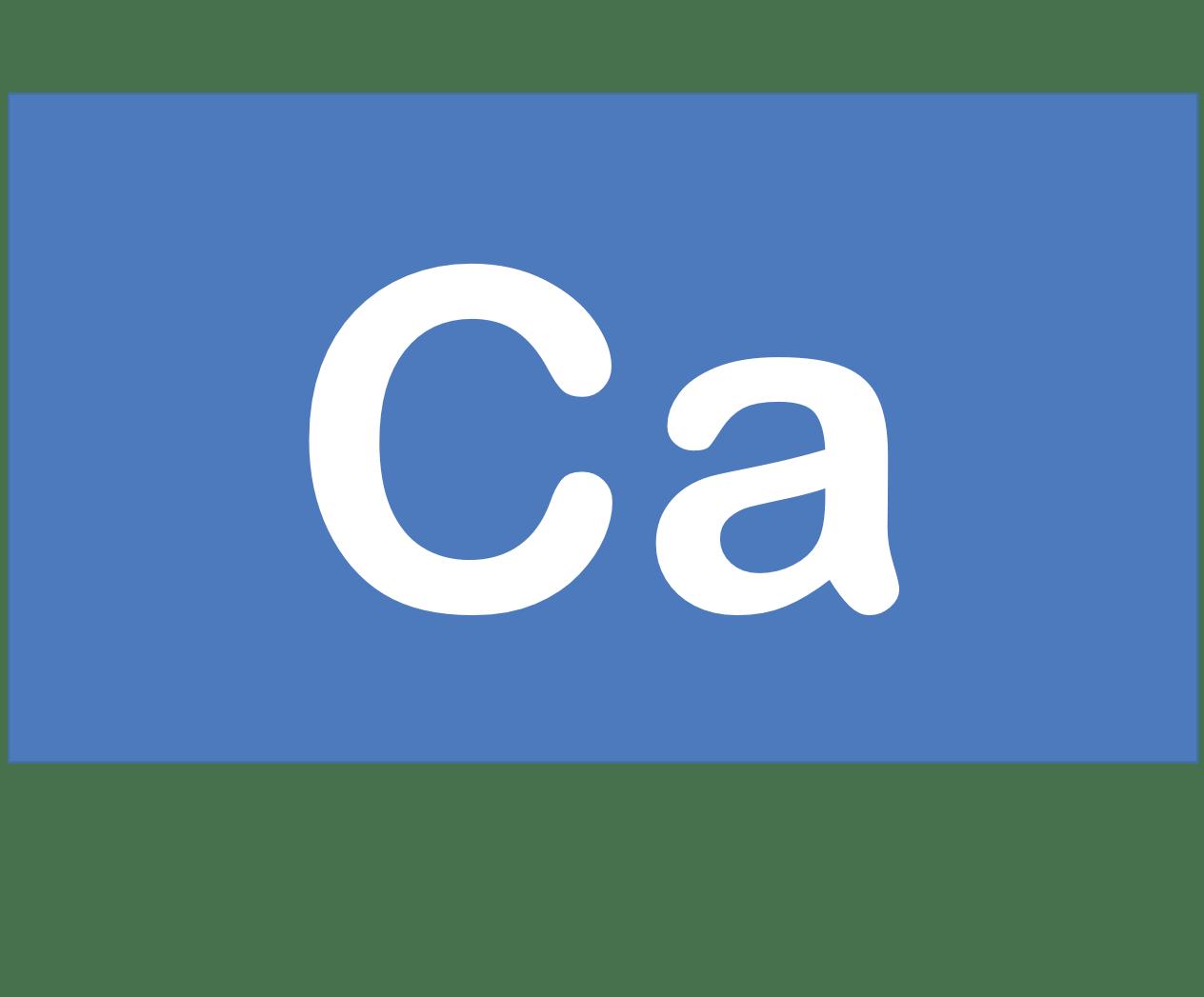 20 Ca カルシウム Calcium 元素 記号 周期表 化学 原子