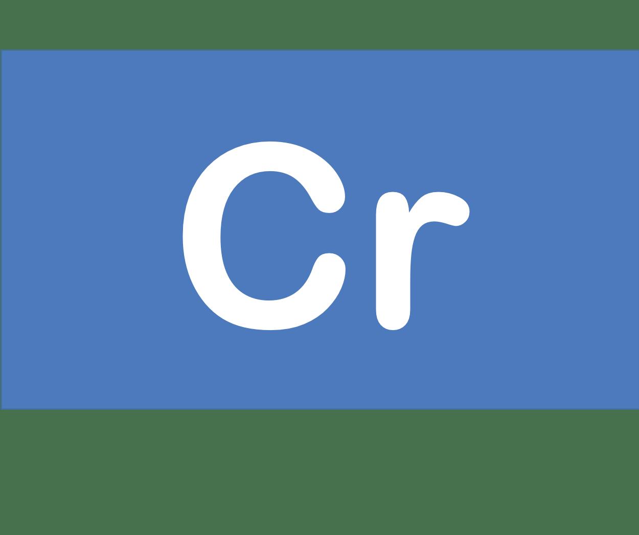 24 Cr クロム Chromium 元素 記号 周期表 化学 原子