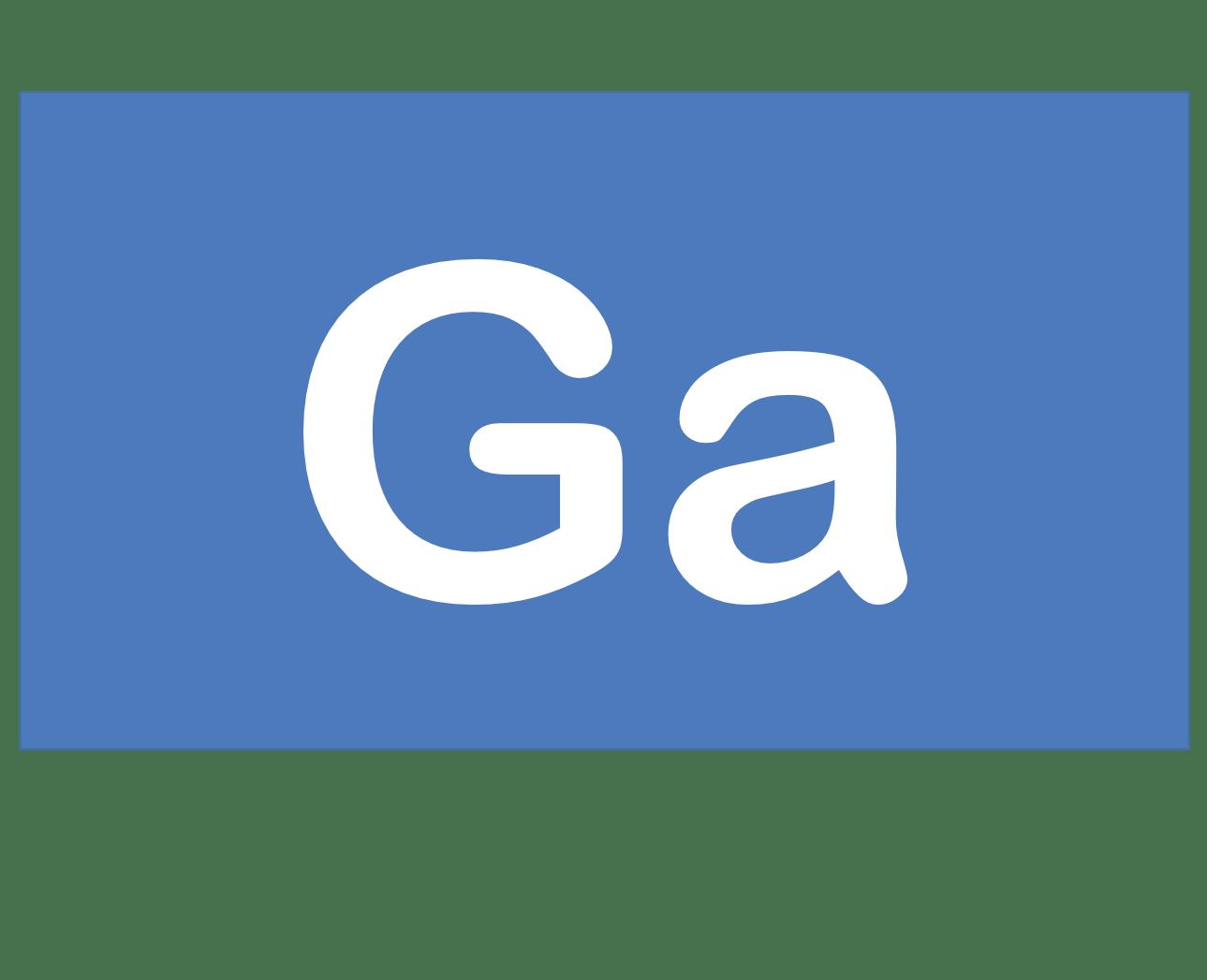 31 Ga ガリウム Gallium 元素 記号 周期表 化学 原子