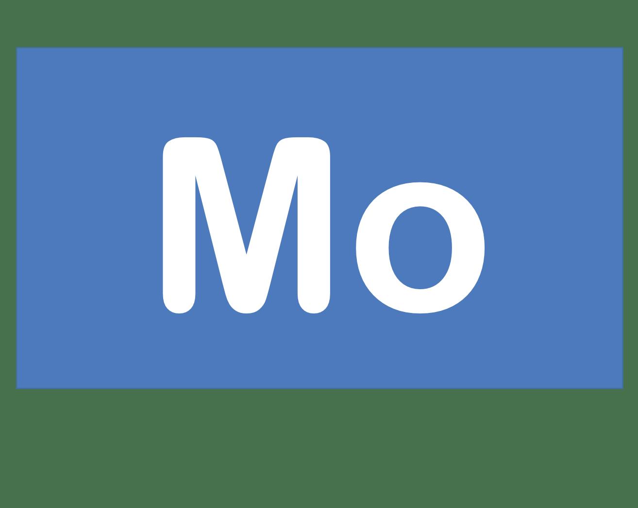 42 Mo モリブデン Molybdenum 元素 記号 周期表 化学 原子