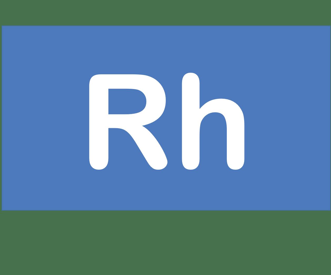 45 Rh ロジウム Rhodium 元素 記号 周期表 化学 原子