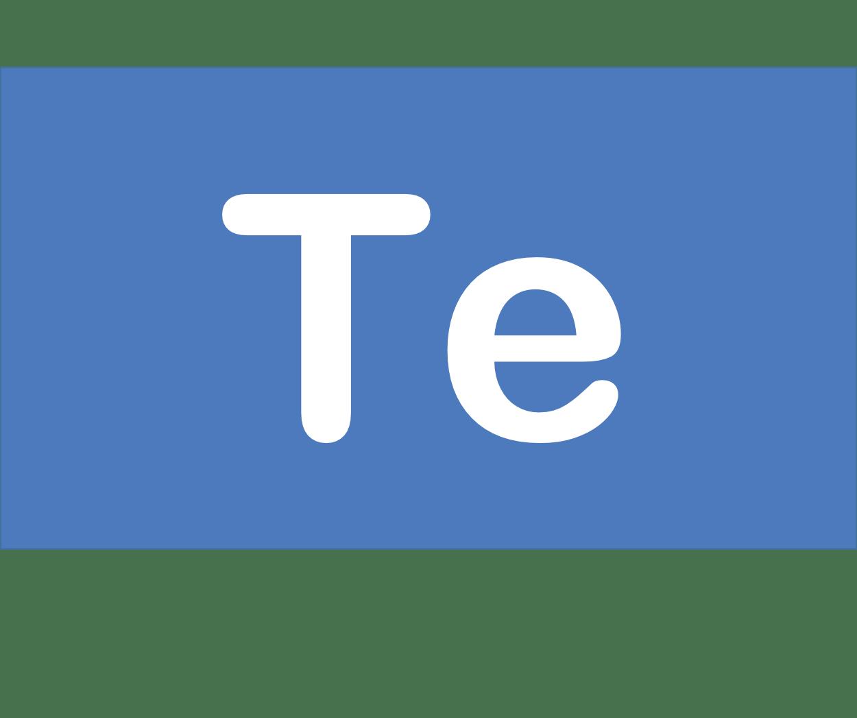 52 Te テルル Tellurium 元素 記号 周期表 化学 原子