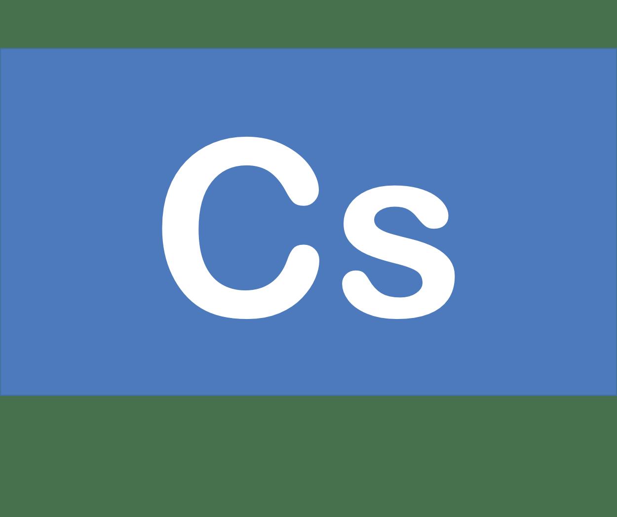 55 Cs セシウム Caesium 元素 記号 周期表 化学 原子