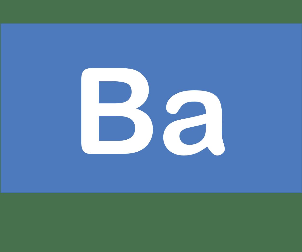 56 Ba バリウム Barium 元素 記号 周期表 化学 原子