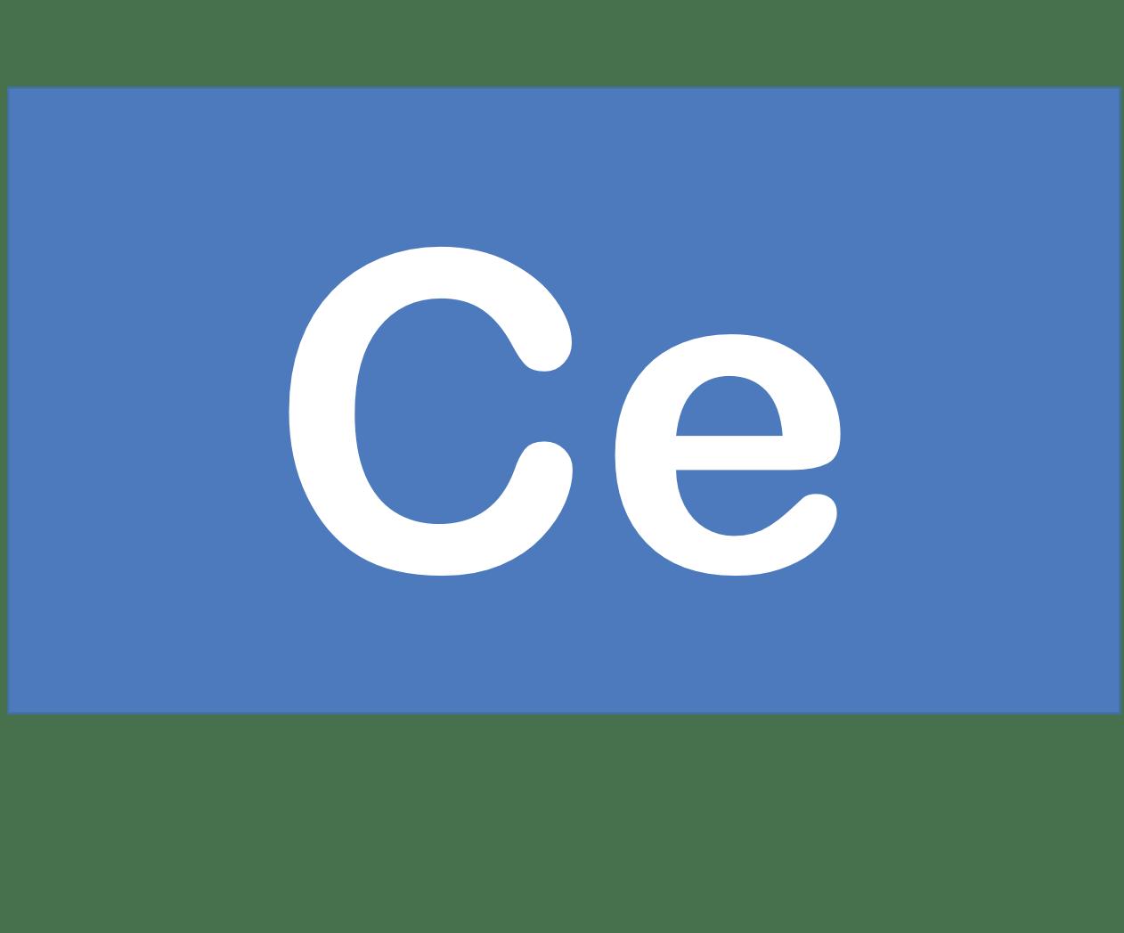 58 Ce セリウム Cerium 元素 記号 周期表 化学 原子