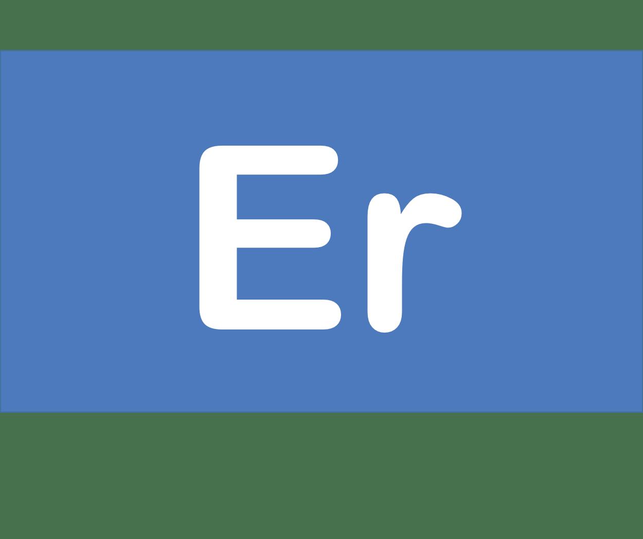 68 Er エルビウム Erbium 元素 記号 周期表 化学 原子