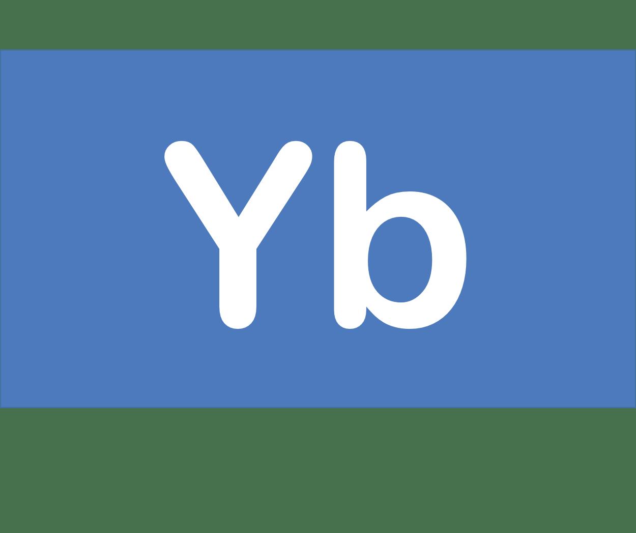 70 Yb イッテルビウム Ytterbium 元素 記号 周期表 化学 原子
