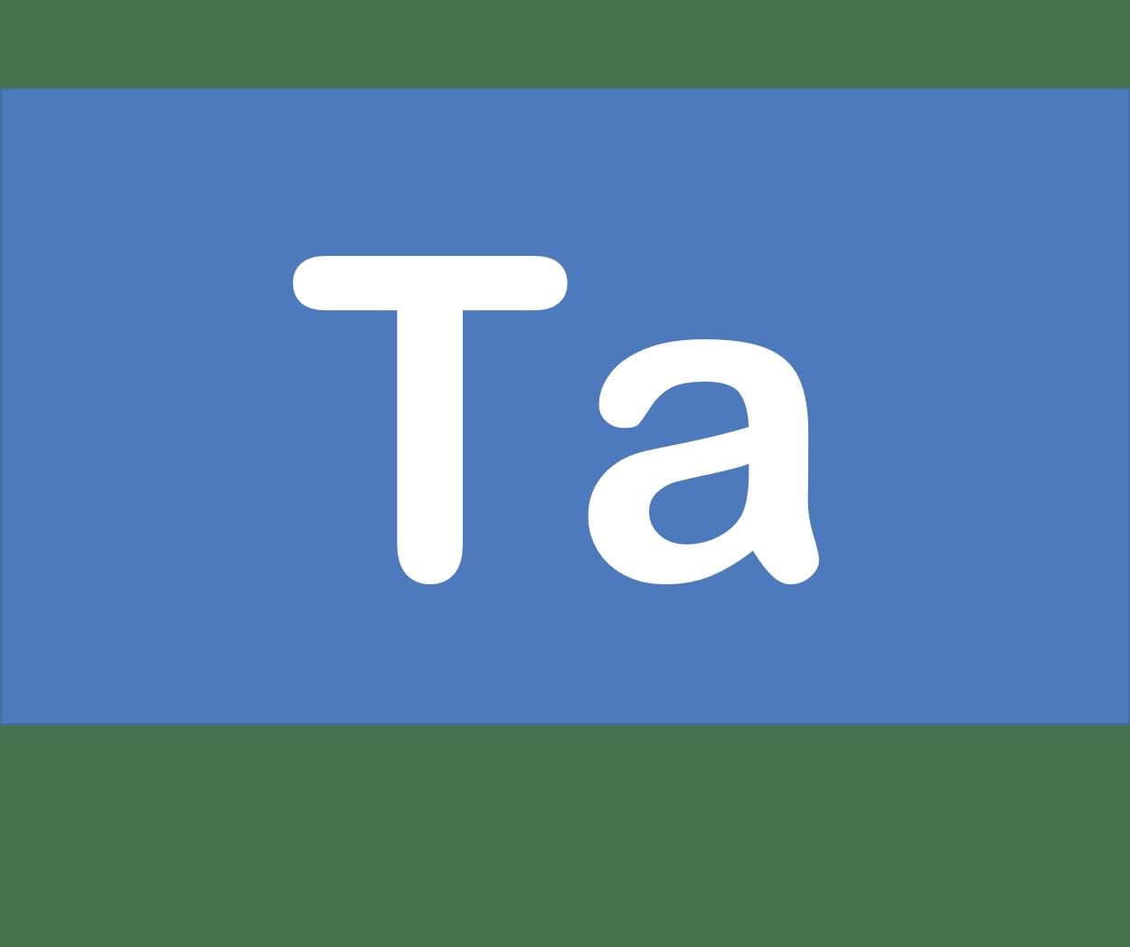 73 Ta タンタル Tantalum 元素 記号 周期表 化学 原子