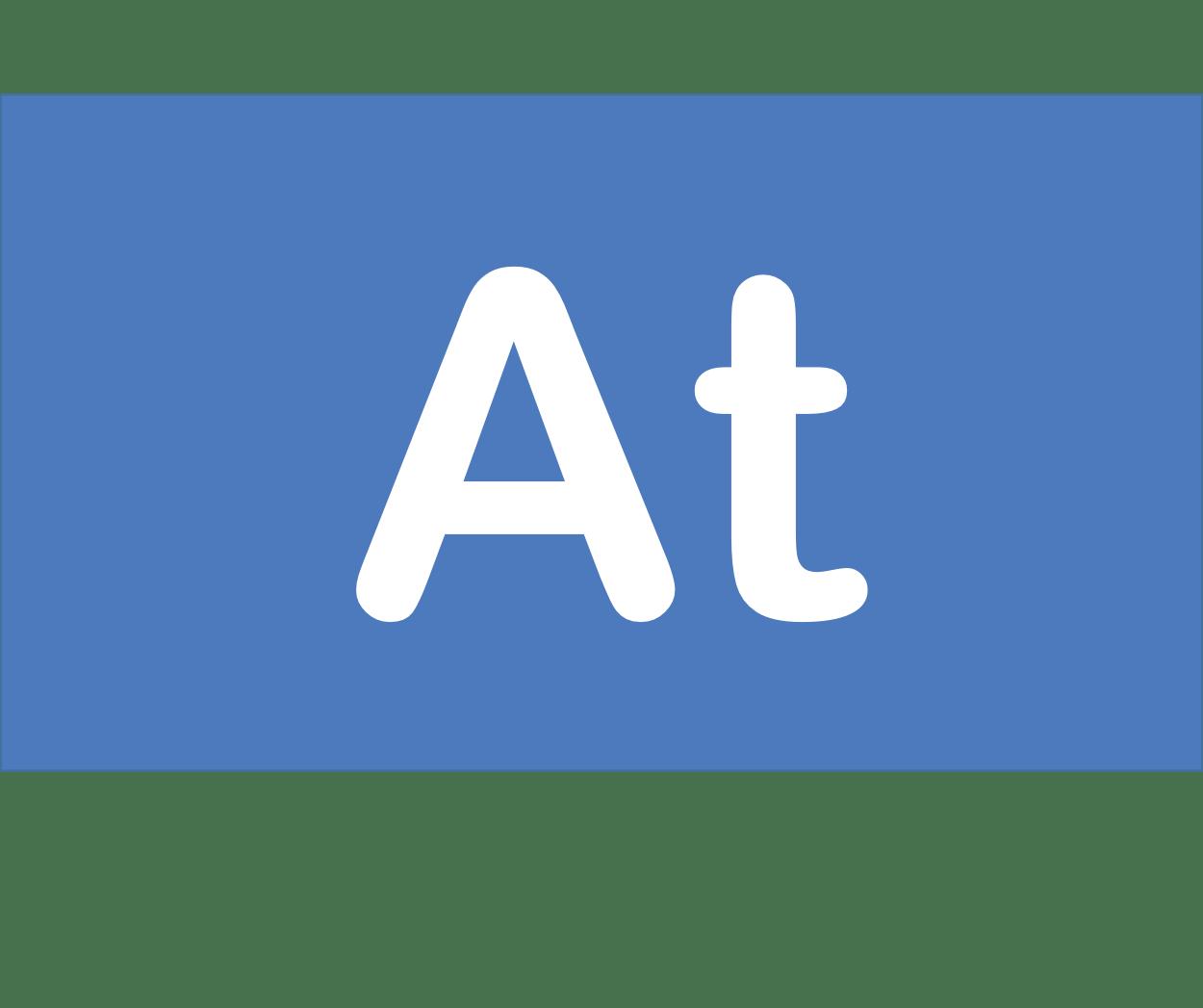 85 At アスタチン Astatine 元素 記号 周期表 化学 原子