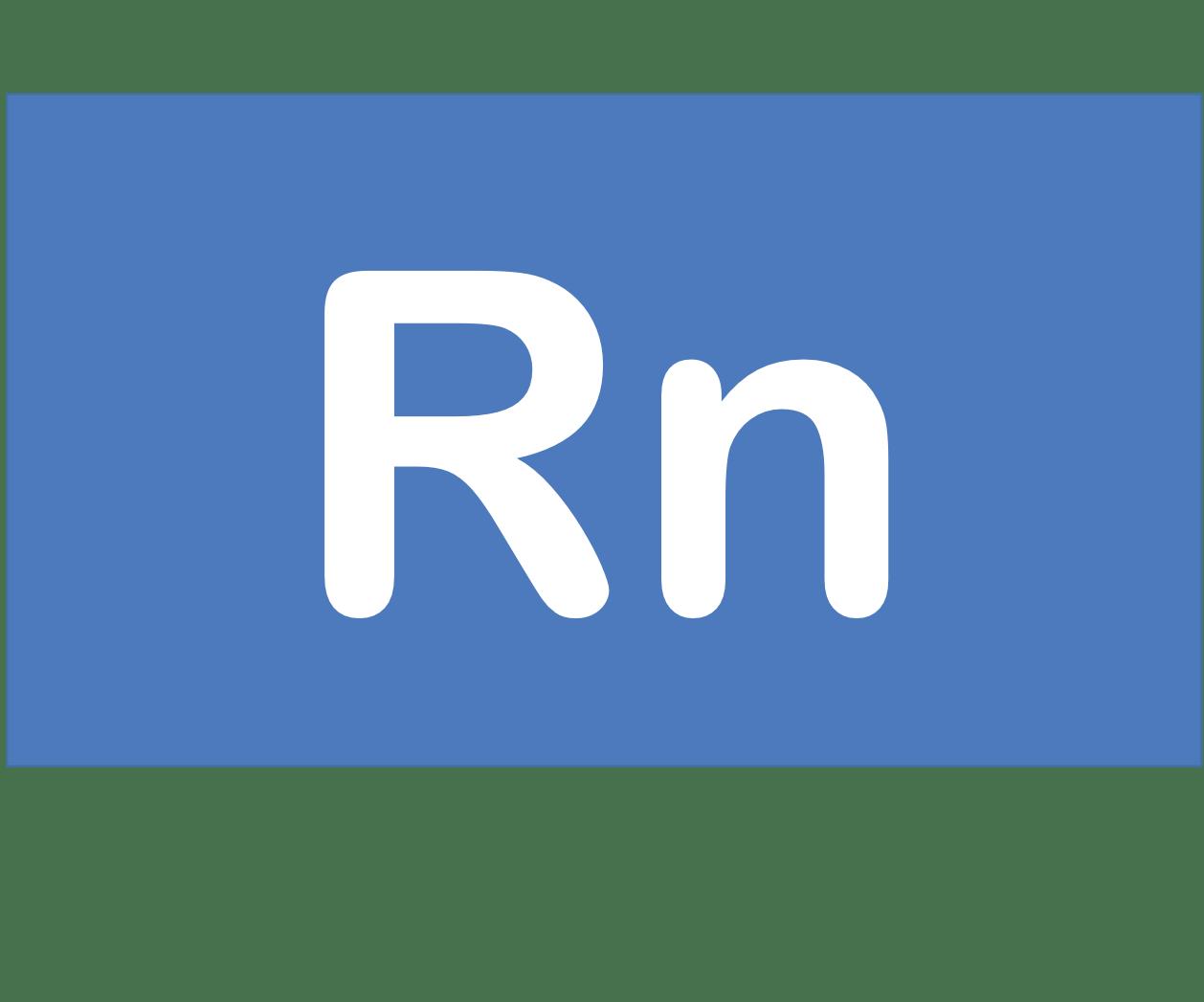 86 Rn ラドン Radon 元素 記号 周期表 化学 原子