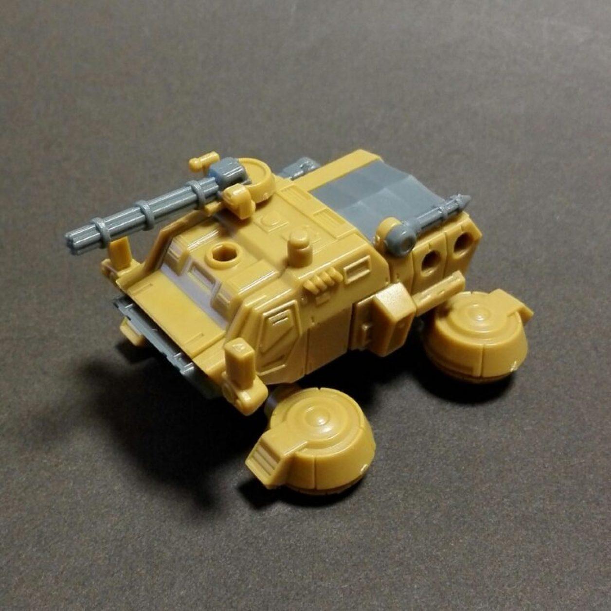 MOBILE SUIT ENSEMBLE(モビルスーツアンサンブル)09弾より機動戦士ガンダムに登場するホバートラックの組立方法の画像