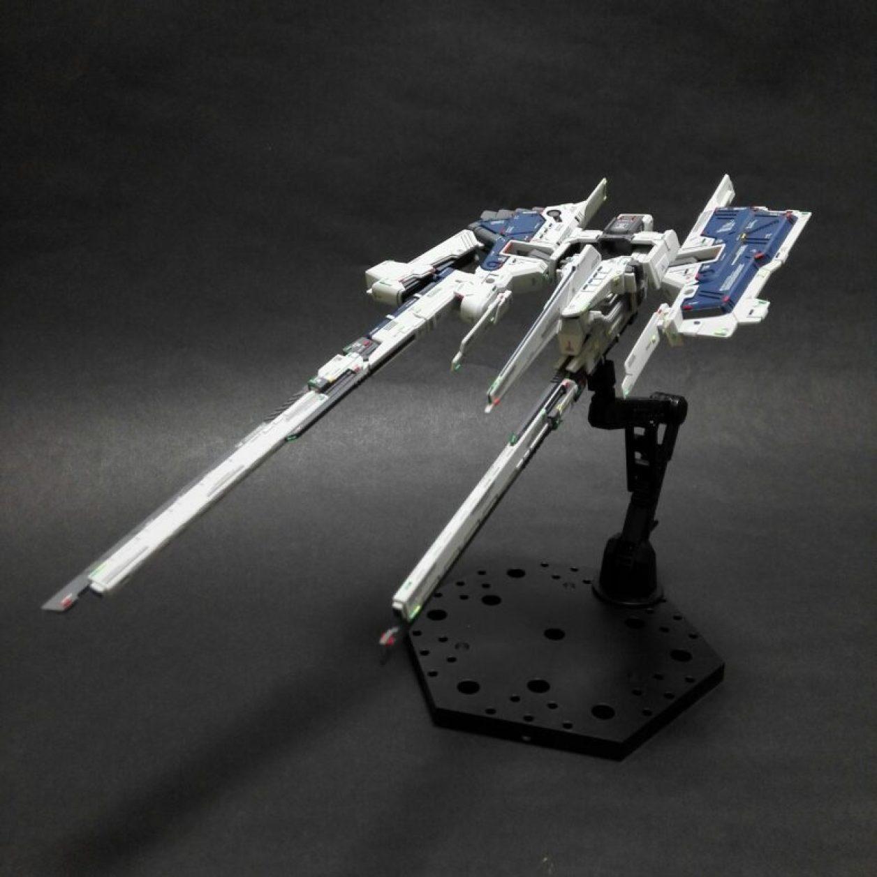 FG版 Gパーツ[フルドド]のクロウ・ウィング・ユニットのクロウを展開させてロング・ブレード・ライフルを装備させた画像