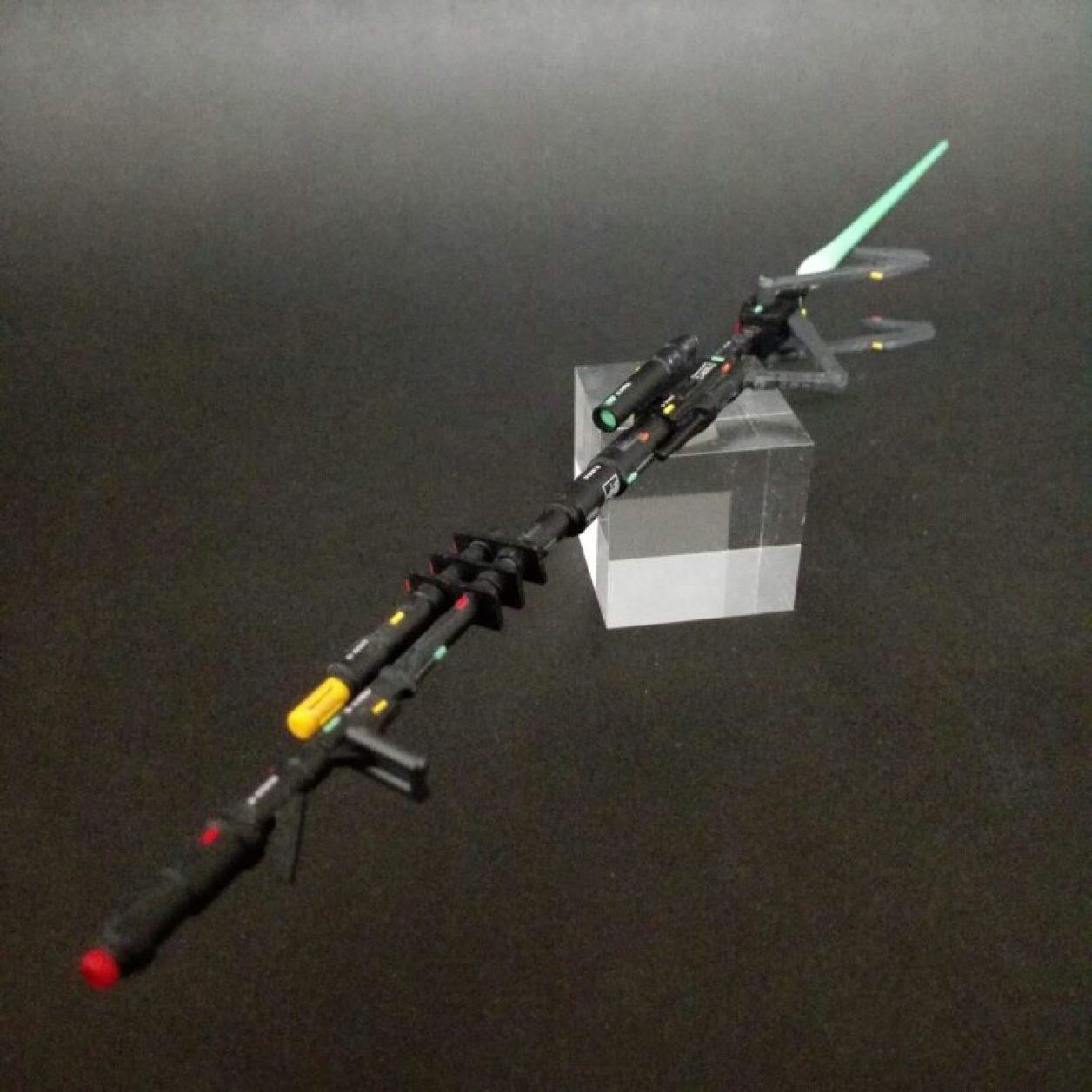 改造、改修、ディテールアップしたHGUC ガブスレイに装備させるフェダーイン・ライフルの画像