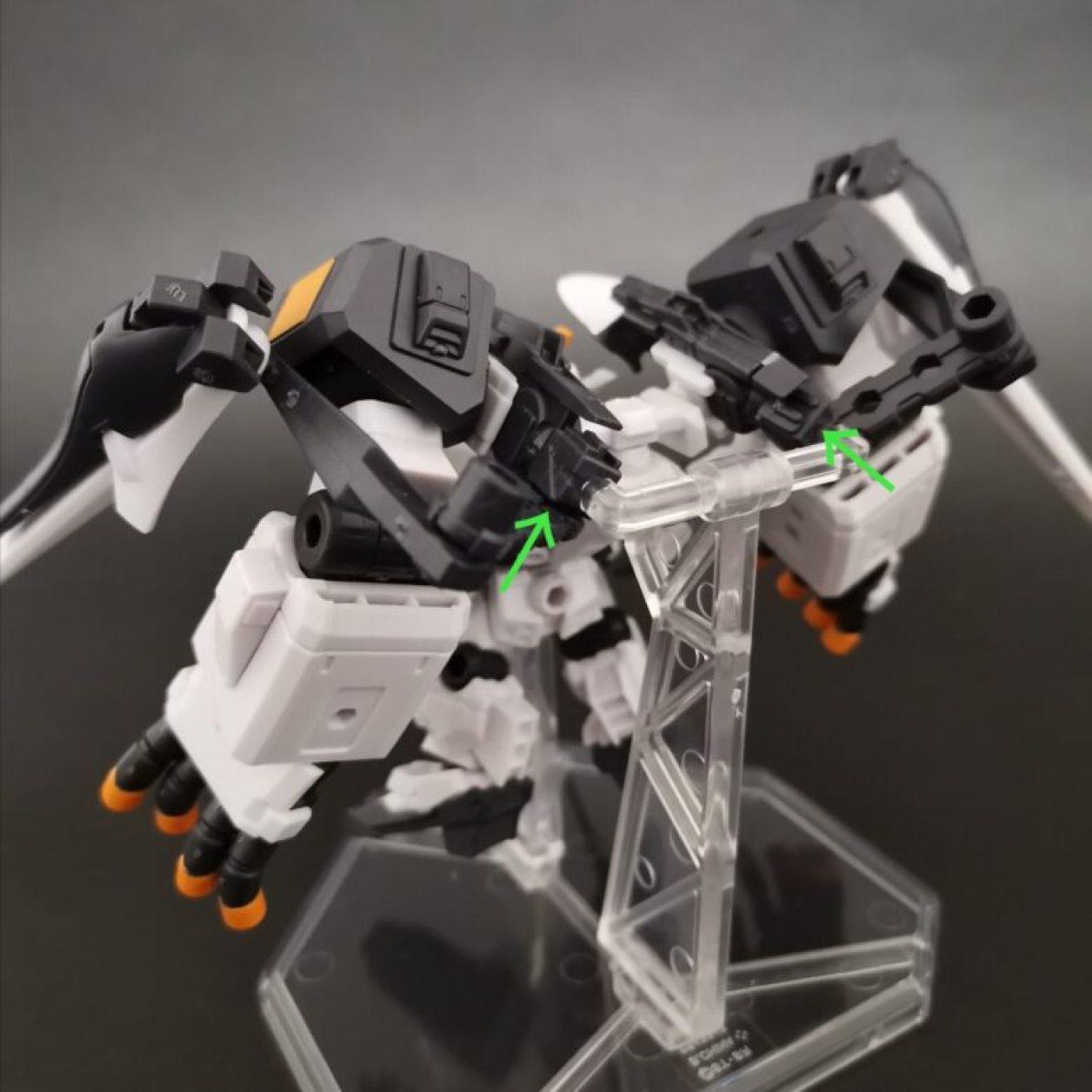 mobile suit ensemble (モビルスーツアンサンブル)ex23弾のガンダムtr-1[ヘイズル·アウスラ](ギガンティックアームユニット装備)の組立方法の紹介画像