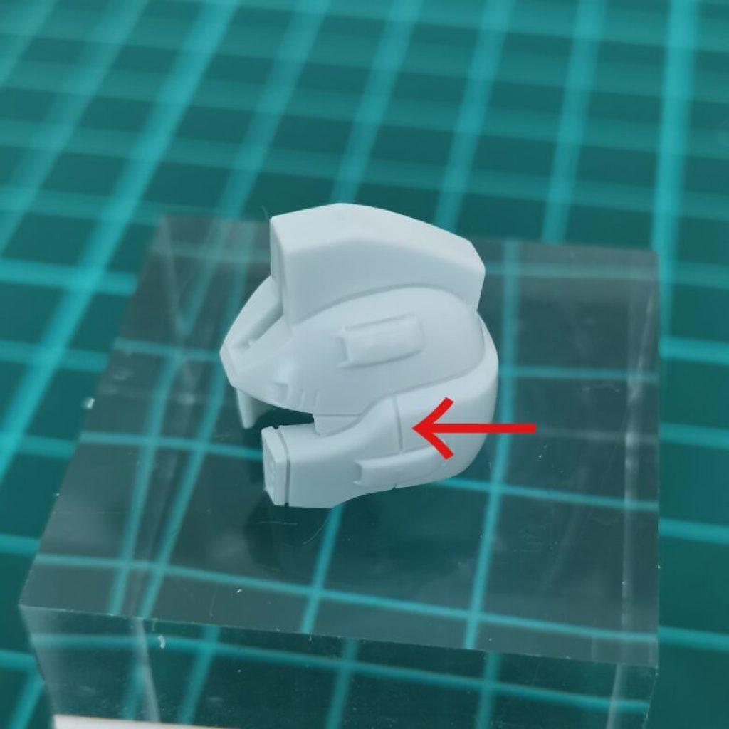hguc zzガンダムの頭部ユニットにスジボリした画像