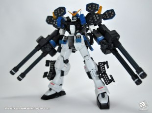 Gundam H-Arms Custom with armaments and missile pods open