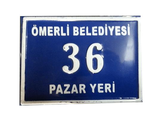16x22 Kapı Numarası