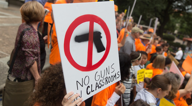 Armed with reason, we're fighting against guns on Texas campuses