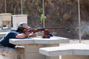 Picture of The Gun Guy shooting a Mosin Nagant 91-30