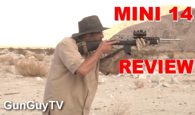 Mini 14 accuracy test in the desert