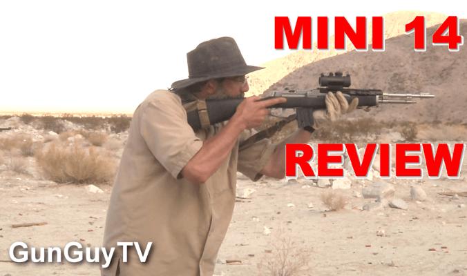 Mini 14 accuracy test in the desert