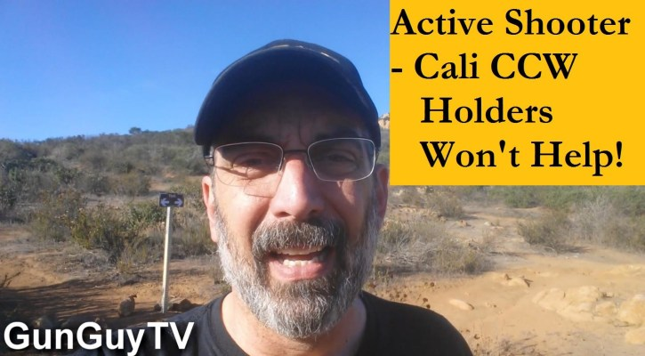 Why California CCW holders wont help with active shooters