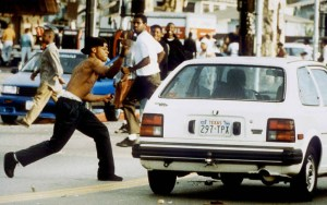 Man attacks motorist during LA Riots