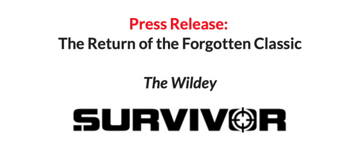Press Release Wildey Survivor