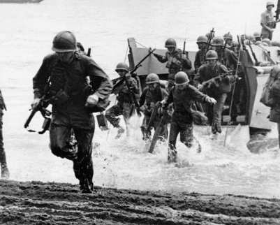 US Marines during WWII
