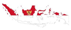 Indonesia flag map