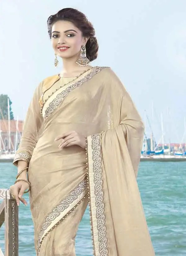 Lyrca Net Party Wear Saree
