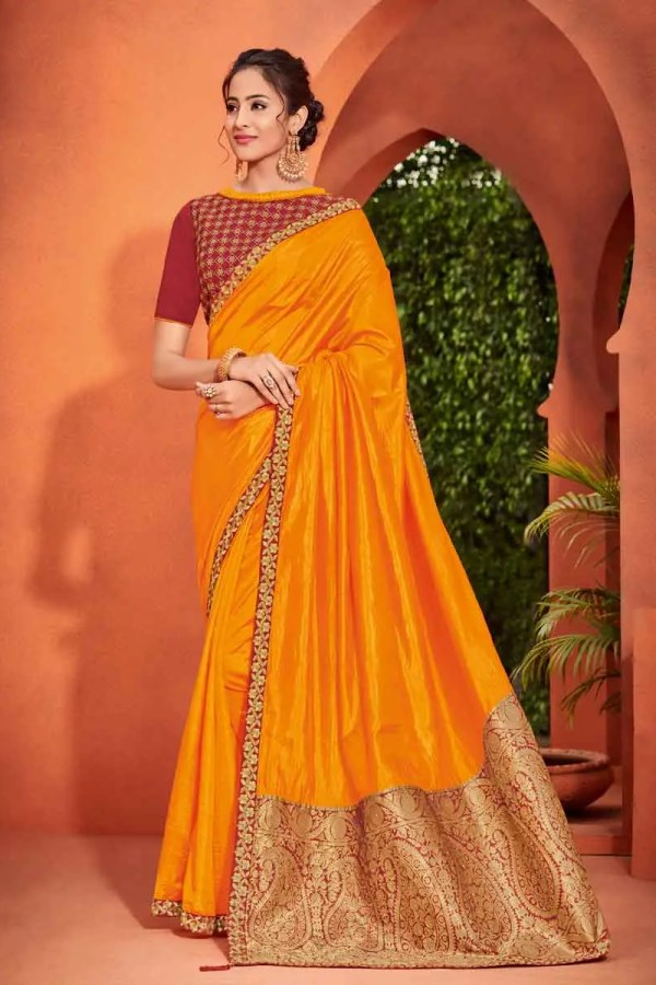 Yellow Saree For Wedding