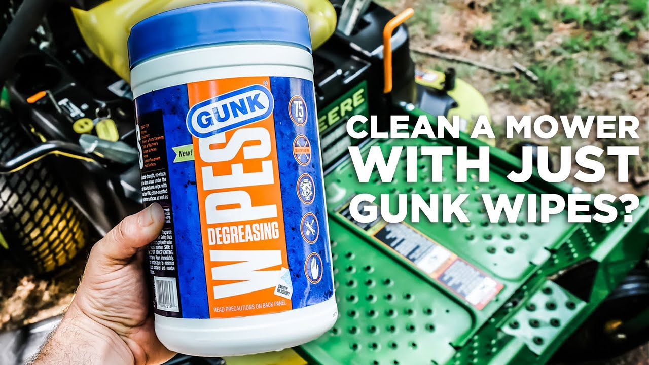 Can We Clean a Zero Turn Entirely with GUNK® Wipes? - youtube