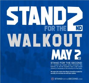 Blue sign Stand for the 2nd Walkout on May 2 protest sign.