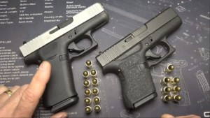 The GLOCK 43X reviewed by online gun reviewer Sootch00 was leaked before the embargo date. It has a longer grip frame to accommodate 10 round mags and silver NP3-coated slide.