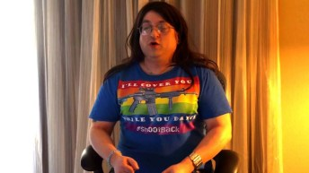 Erin Palette, a trans woman founded Operation Blazing Sword that pairs LGBTQ and their allies together to learn how to safely and properly use firearms.
