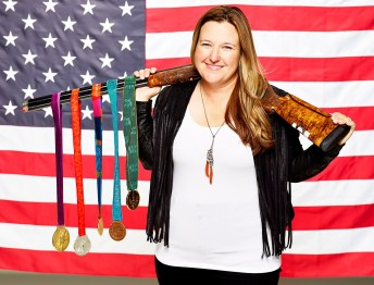 Olympian Kim Rhode is the first woman to win a medal in six consecutive games
