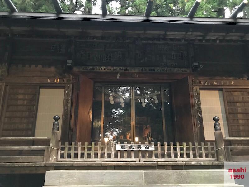 三夜沢赤城神社拝殿