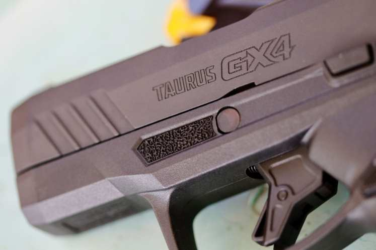 Tiny little textured pads for extra grip or indexing your trigger finger.