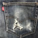 ジーンズリペア ポケットの穴修理