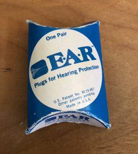 Ear plugs, circa 1980
