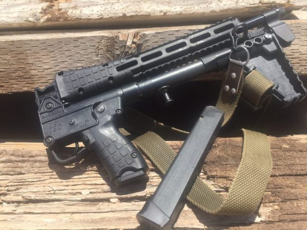 The KelTec Sub2000 in fold down mode
