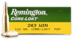 Remington Core-Lokt 243 Winchester Ammunition Ballistics