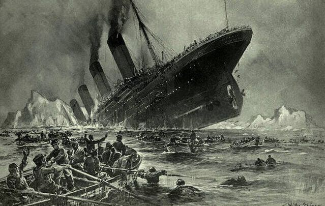 cropped Untergang der Titanic as conceived by Willy Stower 1912