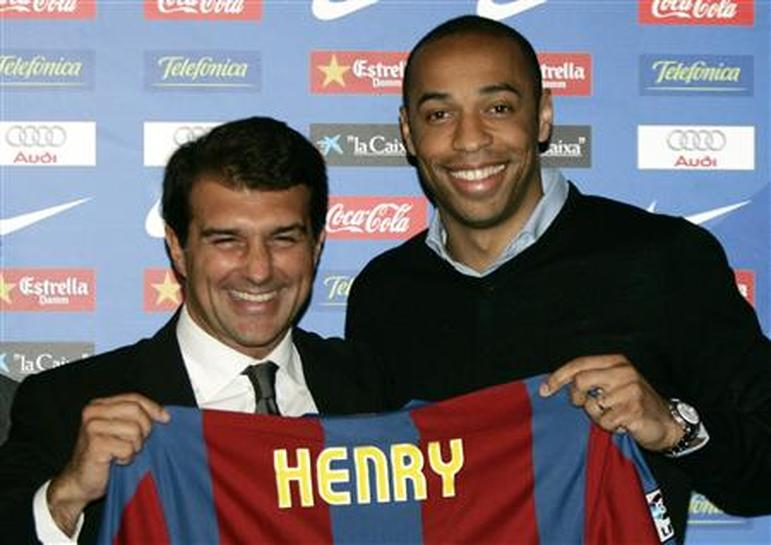 Henry presented at the Nou Camp