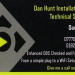 Dan Hunt Installation and Technical Support