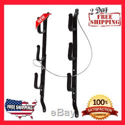 racks gun rack truck rear window locking rifle hanger utility mount wall storage sporting goods