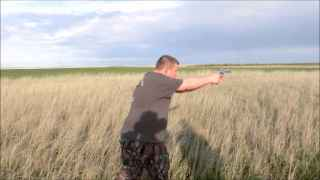 Letting rip with the 41 mag (Bear defense practice)