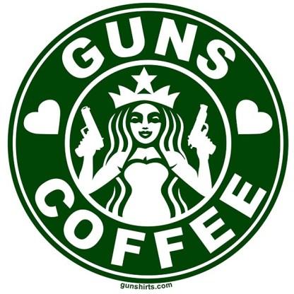 i love guns and coffee lights design