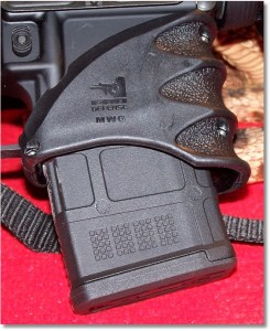 """Installation Completed.  Shown with a """"Modified"""" Magpul 20-round magazine inserted."""